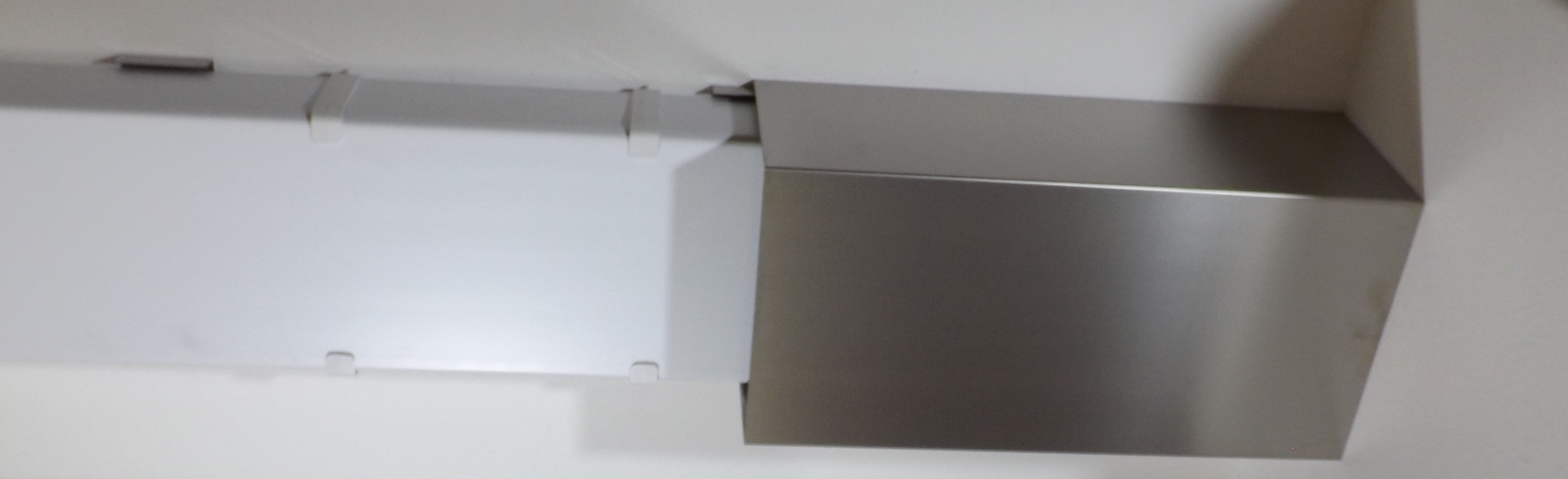 edelstahl verkleidung u form f r flachkanal insel dunstabzugshauben naber compair. Black Bedroom Furniture Sets. Home Design Ideas