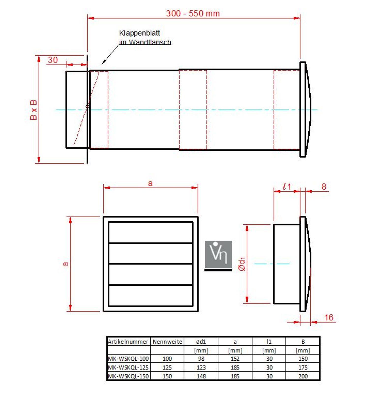 dunstabzugshaube mauerkasten swalif. Black Bedroom Furniture Sets. Home Design Ideas