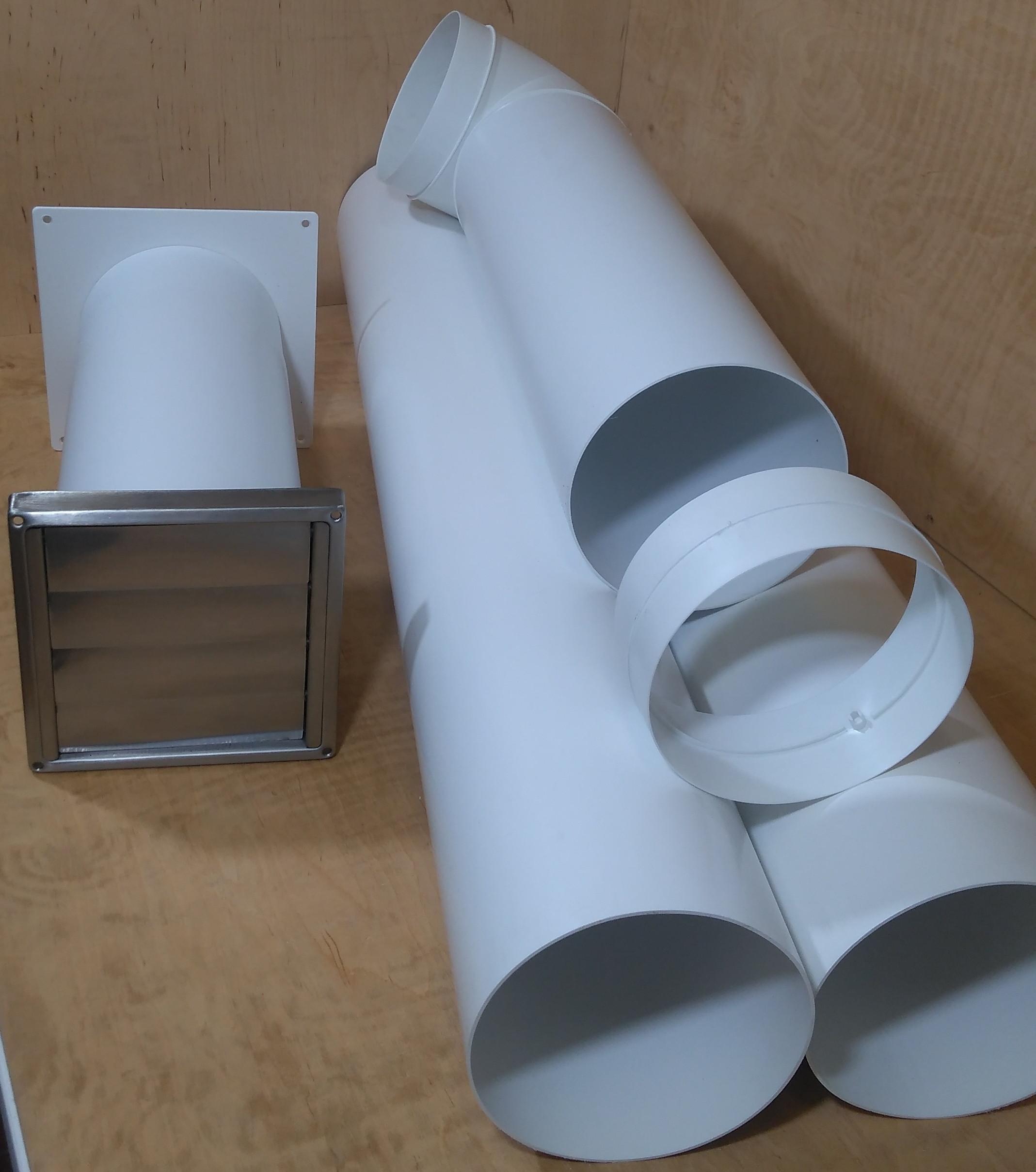 L/änge: 30-50cm Teleskop-Rohr Nennweite 150mm L/üftungsrohr