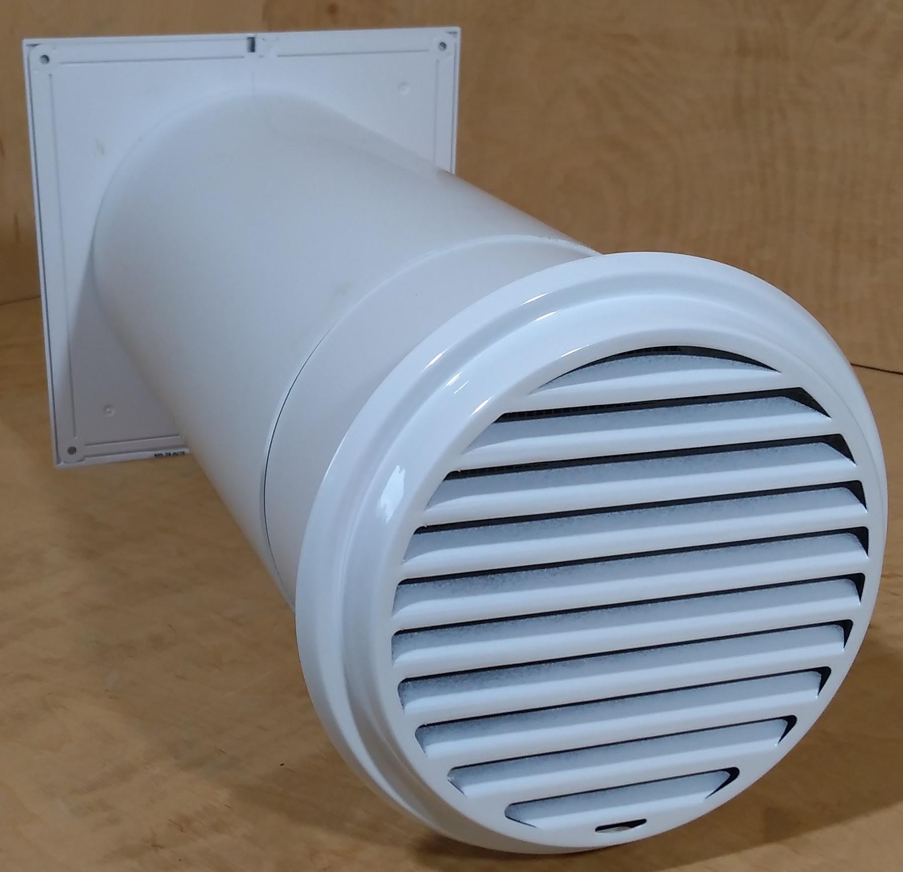 ventilator mit teleskoprohr und wetterschutz aus edelstahl. Black Bedroom Furniture Sets. Home Design Ideas