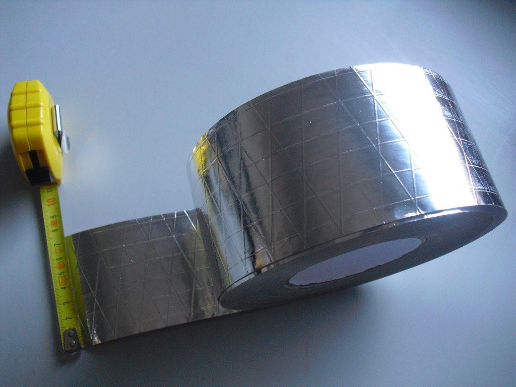 Alu Klebeband Rolle 75mm x 50m Alu Isolier Klebeband mit Glasfaser Verstärkung AKBS75-50