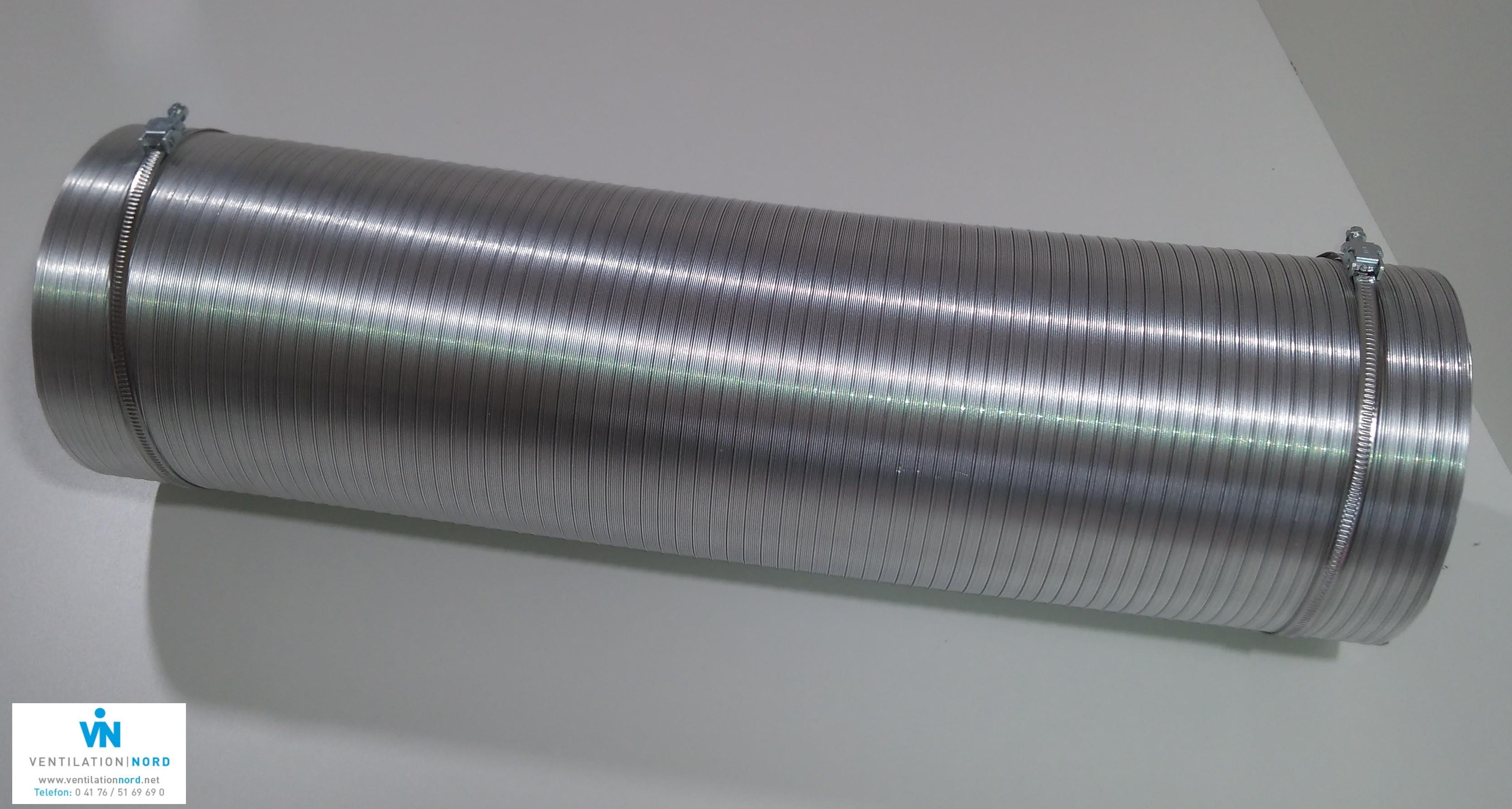 Aluflex Schlauch VentilationNord mit Schlauchschellen