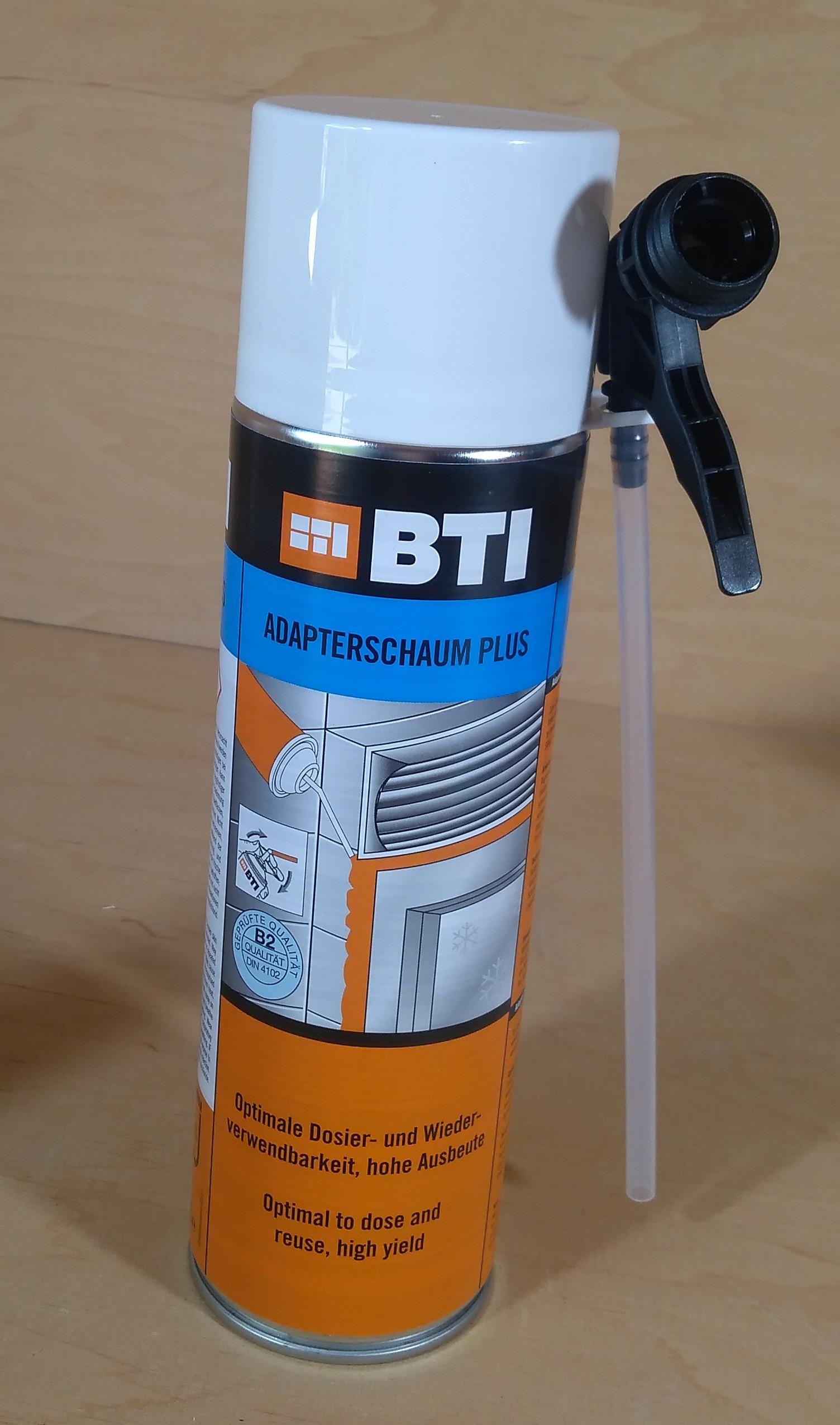 Bau Montage Schaum Adapterschaum plus für Mauerkästen von BTI