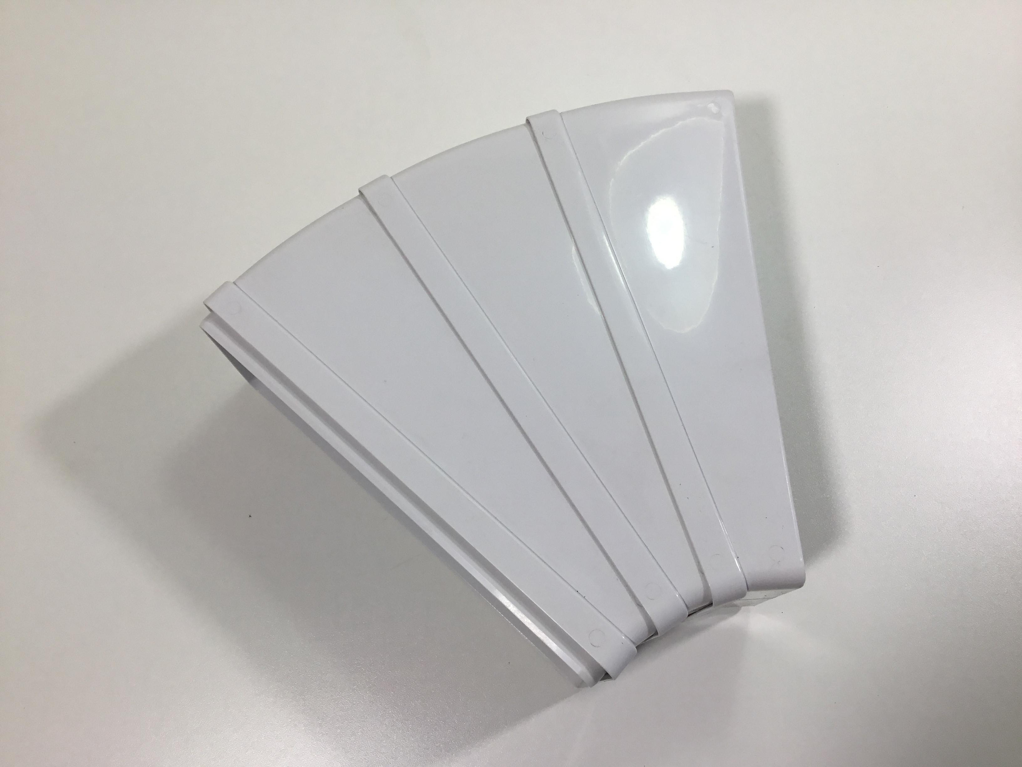 Flachkanal Dunstabzug Mauerkasten Kunststoff 45°