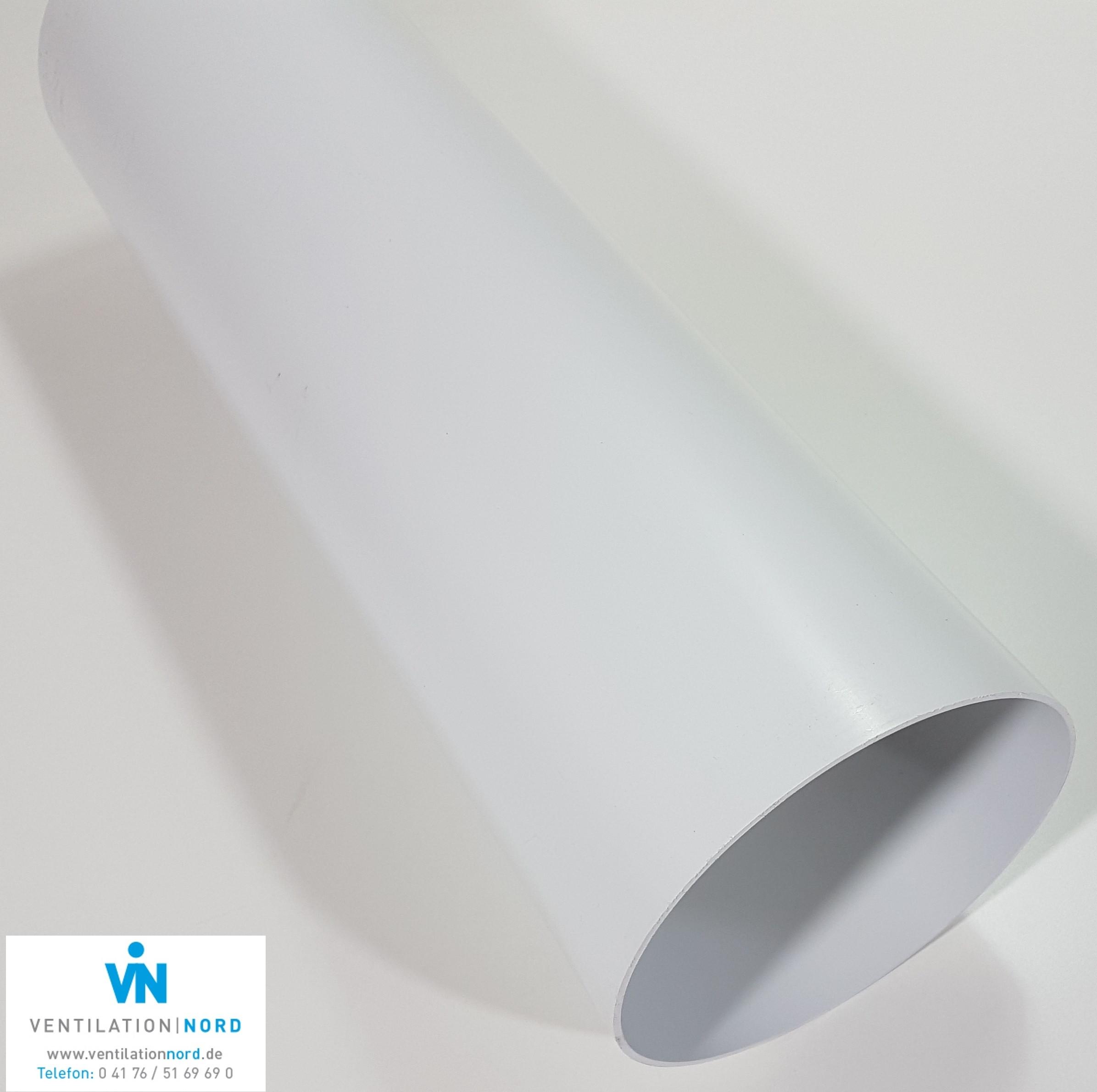 kunststoffrohr abluft zuluft z b f r dunstabzug 100 125 150 0 5m lang flachkanal rohr. Black Bedroom Furniture Sets. Home Design Ideas