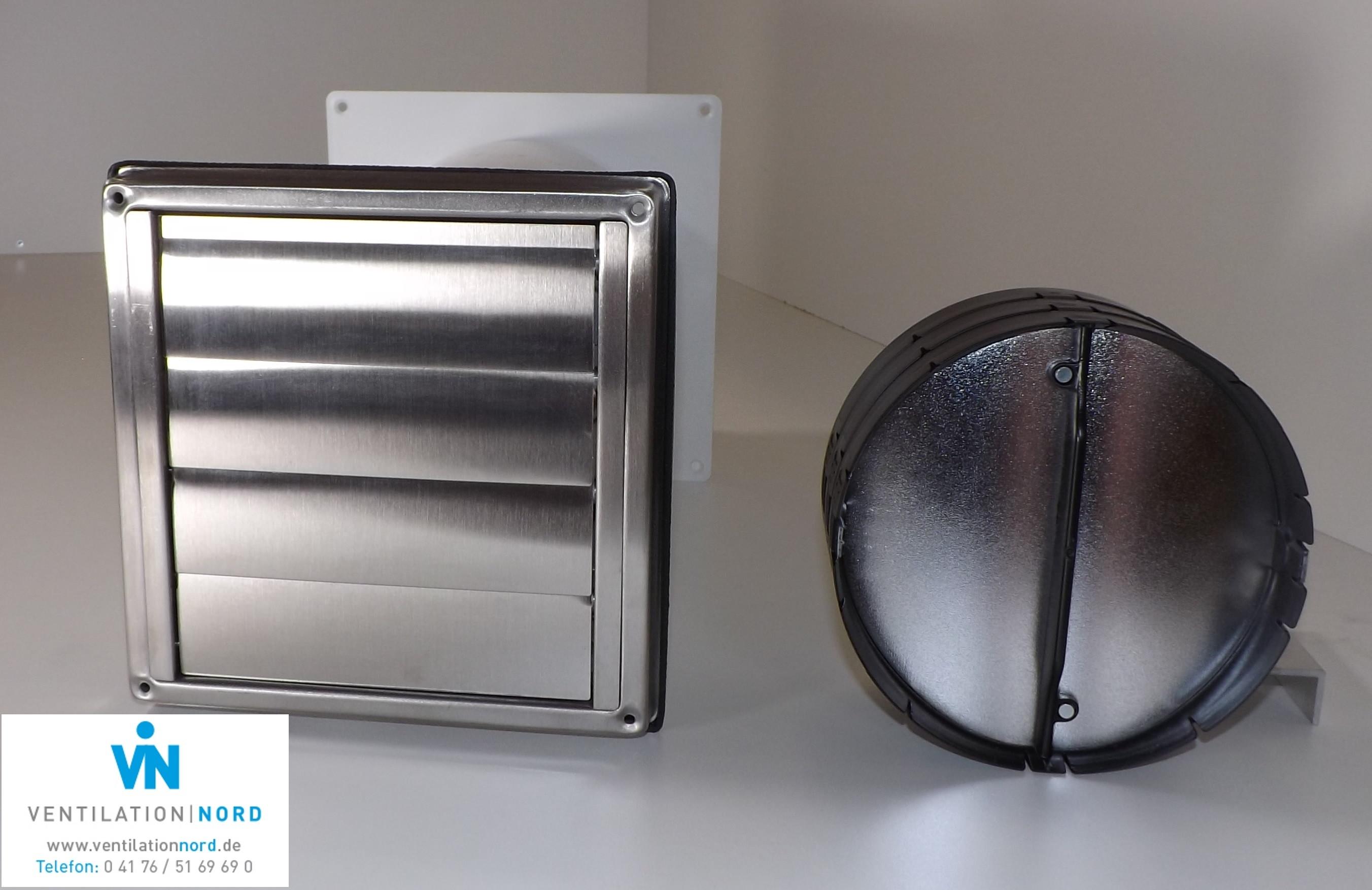 Mauerkasten mit Naber Thermobox für Dunstabzugshauben