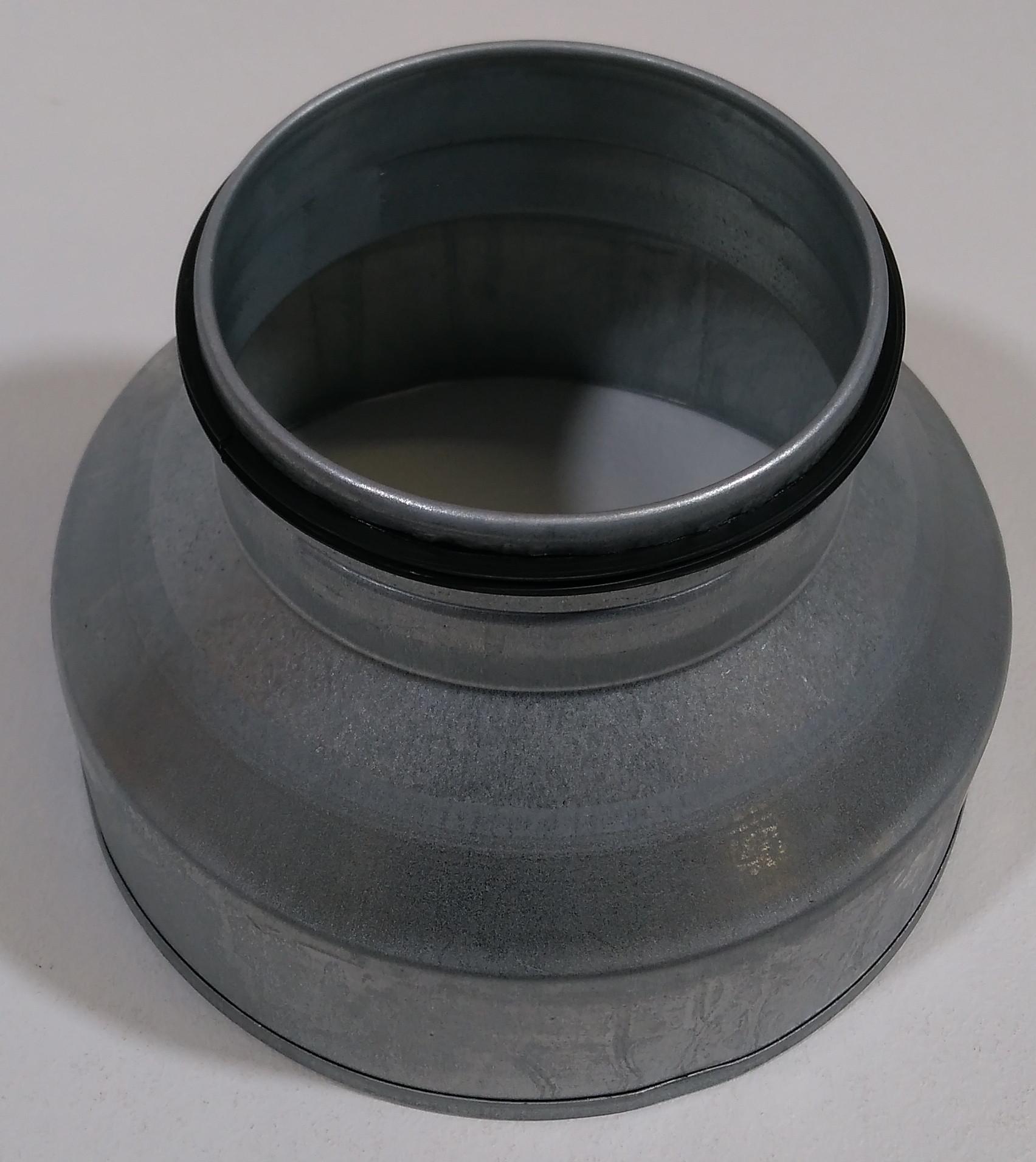 Reduzierung Stahl verzinkt mit EPDM Lippendichtung Muffe / Nippel
