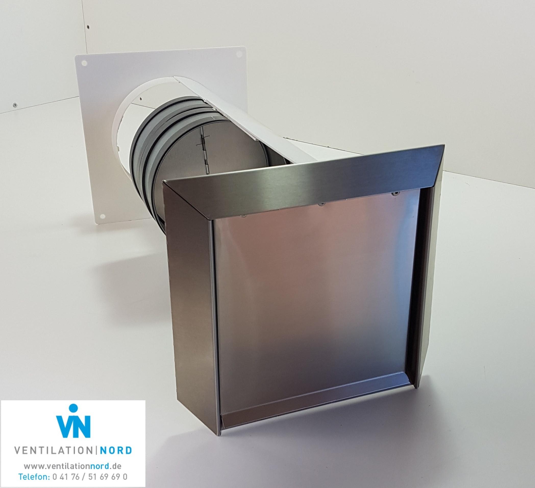 Mauerkasten Blower Door Test Zertiffikat VentilationNord 100 125 150 Dustabzug