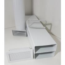 Mauerkasten Set Flachkanal 220x90 150 Edelstahl Rückstauklappe Insektenschutzgitte