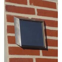 Wetterschutz-gitter Edelstahl mit Klappenblatt 100 125 150 Typ WSEKL