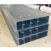 Flachkanal Stahl verzinkt Edelstahl Wohnraumlüftung Dunstabzug mit Befestigungsleite Innenverstärkt