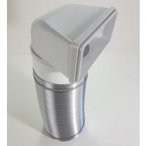 Flachkanal Kunststoff Dunstabzug 220x90