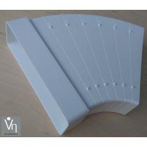 Abluftkanal 60x205mm Dunstabzug Flachkanal Bogen 7,5° bis 45° Kunststoff KB60205-7,5-45