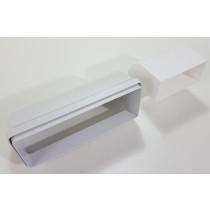 Flachkanal Dunstabzug Mauerkasten Kunststoff 90°
