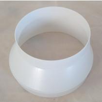 Abluftrohr Reduzierung Ø150 auf Ø125 Lüftung Rundkanal Kunststoff KRR150125