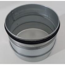 Reduzierung Stahl verzinkt mit EPDM Lippendichtung Muffe / Nippel 150/140 für Klimaschläuche