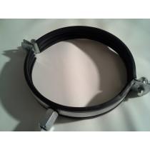 Rohrschelle Stahl verzinkt mit Gummieinlage RSG von NW80 bis NW200