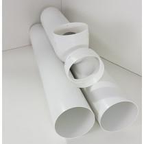 Rohr Set zum Anschluss von Mauerkasten und Dunstabzugshaube