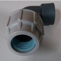 Sole EWT PE RC Rohr Verschraubung zu Cu Rohr 22mm 3/4 Zoll