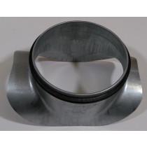 Sattelstutzen Stahl verzinkt mit EPDM Lippendichtung