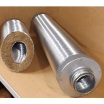 Telefonieschalldämpfer mineralfaser frei ohne Mineralwolle mit Doppellippendichtung