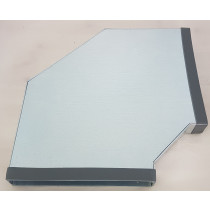 Flachkanal Stahl verzinkt Edelstahl Bogen waagerecht 90°