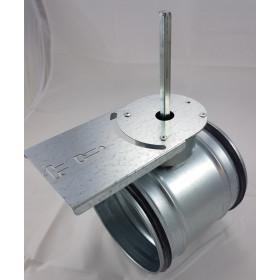 Absperrklappe Stahl verzinkt dichtschließend manuell mit Anbauplatte für Stellantrieb Nennweite 80 - 400