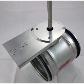 Absperrklappe Edelstahl dichtschließend manuell mit Anbauplatte für Stellantrieb Nennweite 80 - 315